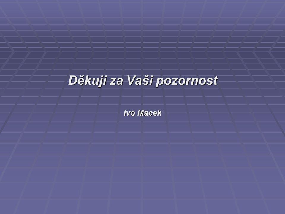 Děkuji za Vaši pozornost Ivo Macek