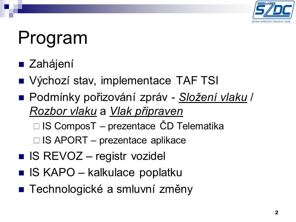Informační systém Kalkulace Poplatků - KAPO náhrada TP 412 Ing.