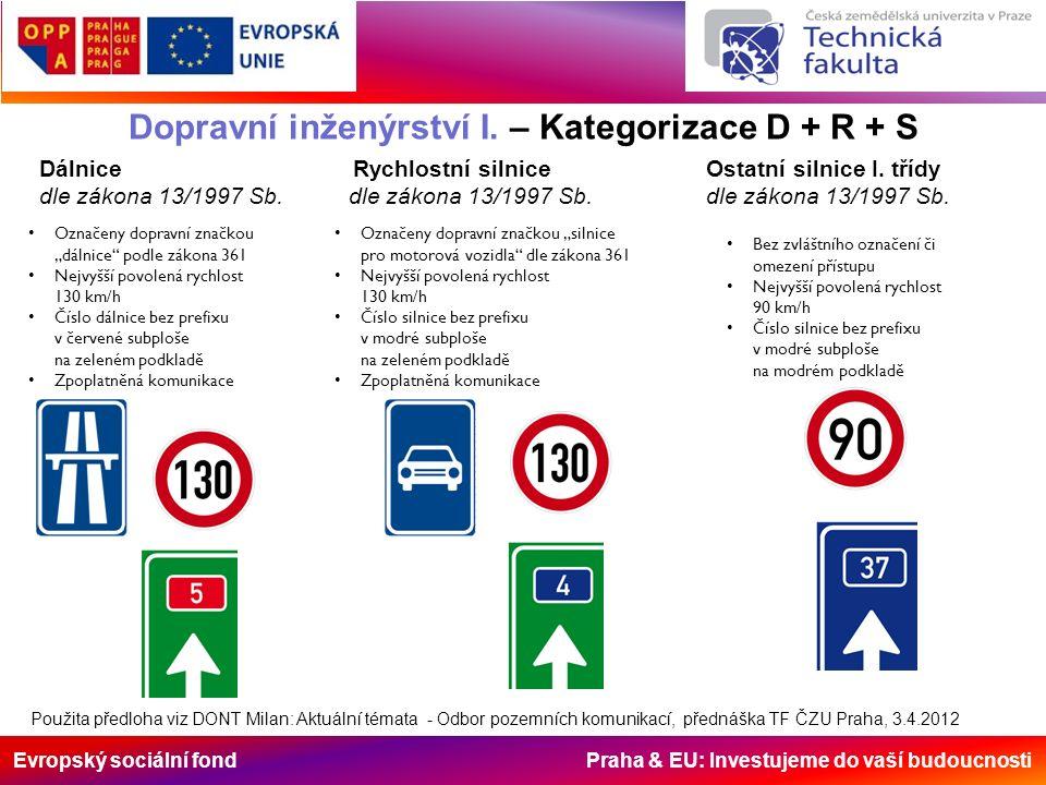 Evropský sociální fond Praha & EU: Investujeme do vaší budoucnosti Použita předloha viz DONT Milan: Aktuální témata - Odbor pozemních komunikací, před