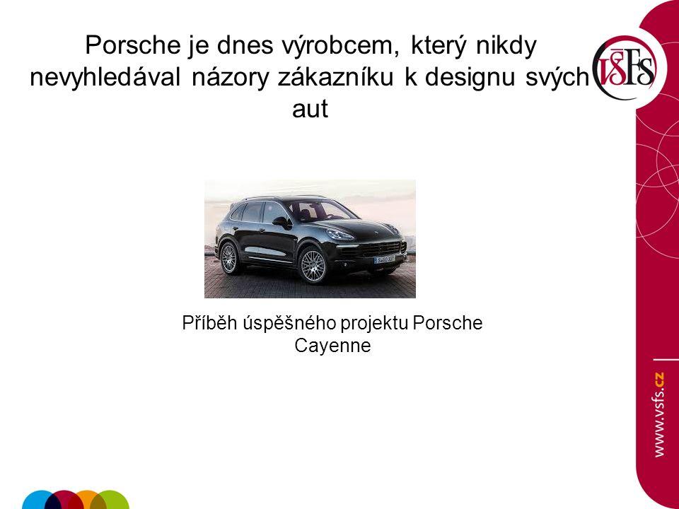 Porsche je dnes výrobcem, který nikdy nevyhledával názory zákazníku k designu svých aut Příběh úspěšného projektu Porsche Cayenne