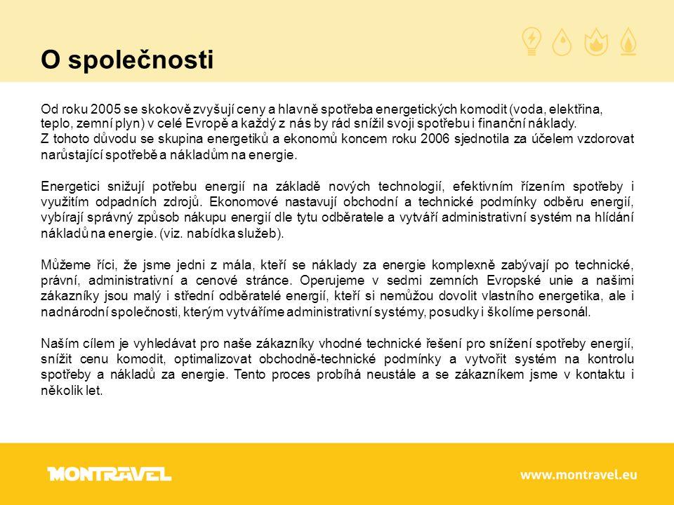 O společnosti Od roku 2005 se skokově zvyšují ceny a hlavně spotřeba energetických komodit (voda, elektřina, teplo, zemní plyn) v celé Evropě a každý z nás by rád snížil svoji spotřebu i finanční náklady.