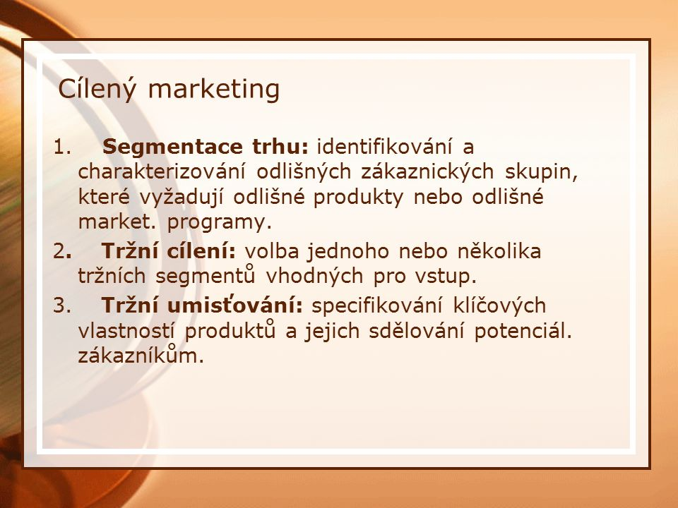Cílený marketing 1.