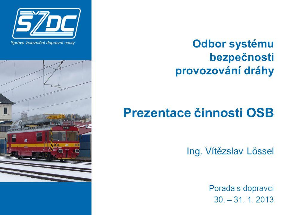 Odbor systému bezpečnosti provozování dráhy Prezentace činnosti OSB Ing.