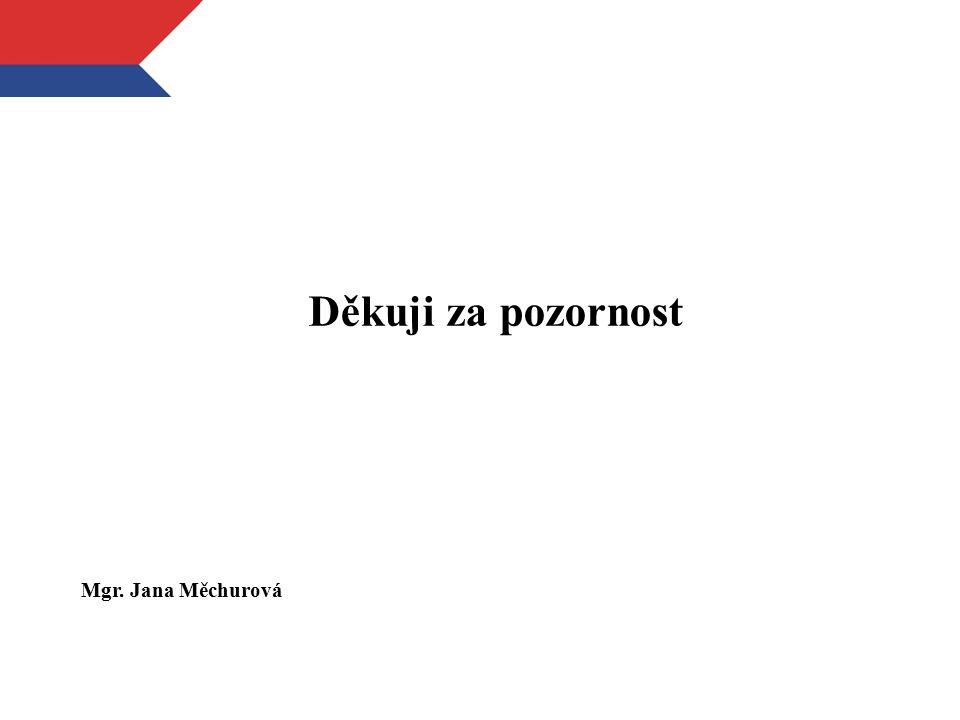 Děkuji za pozornost Mgr. Jana Měchurová