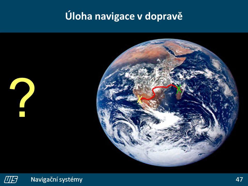 47 Navigační systémy Úloha navigace v dopravě ?