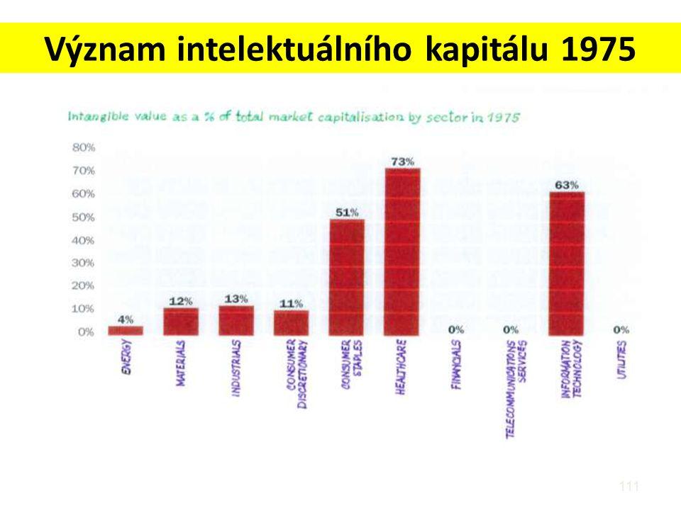 Význam intelektuálního kapitálu 1975 111