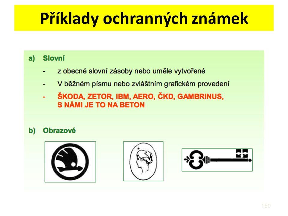 Příklady ochranných známek 150