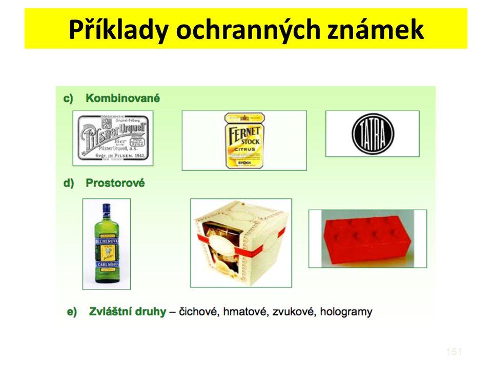 Příklady ochranných známek 151