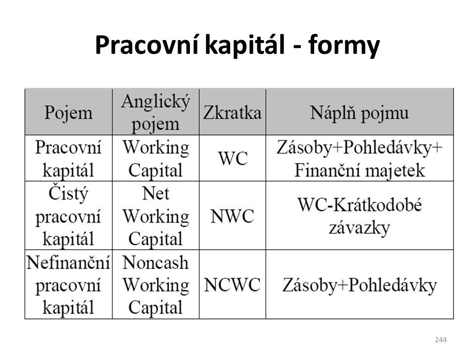 Pracovní kapitál - formy 244