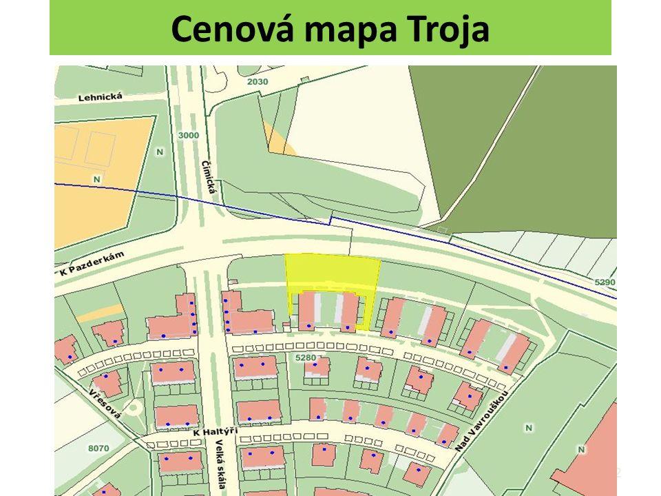 Cenová mapa Troja 82