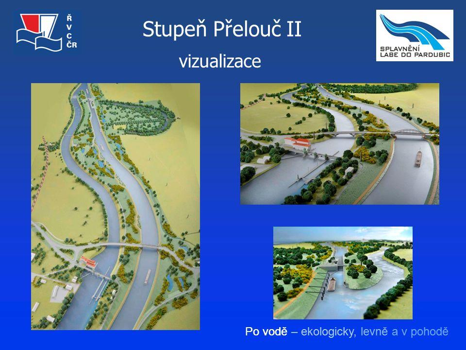 Po vodě – ekologicky, levně a v pohodě vizualizace Stupeň Přelouč II
