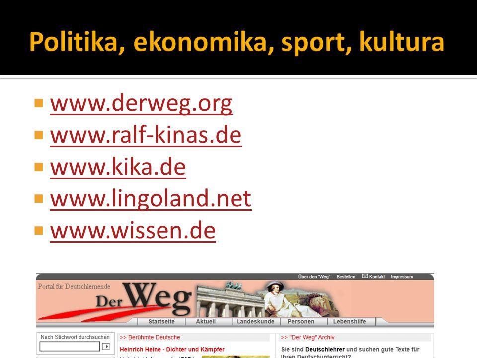  www.derweg.org www.derweg.org  www.ralf-kinas.de www.ralf-kinas.de  www.kika.de www.kika.de  www.lingoland.net www.lingoland.net  www.wissen.de www.wissen.de