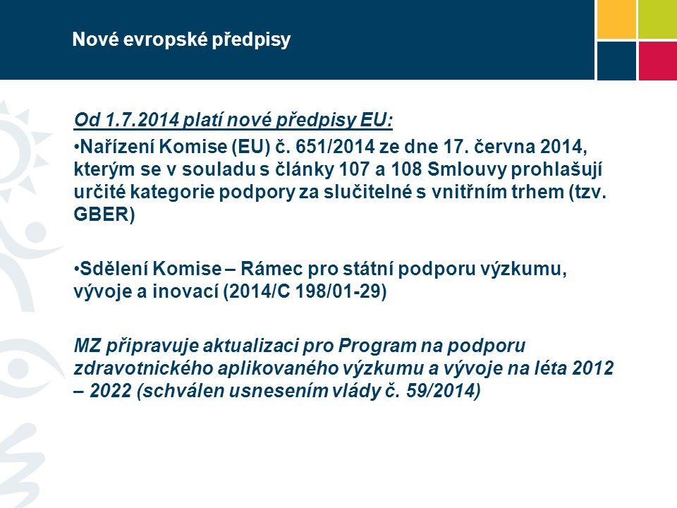 Od 1.7.2014 platí nové předpisy EU: Nařízení Komise (EU) č.