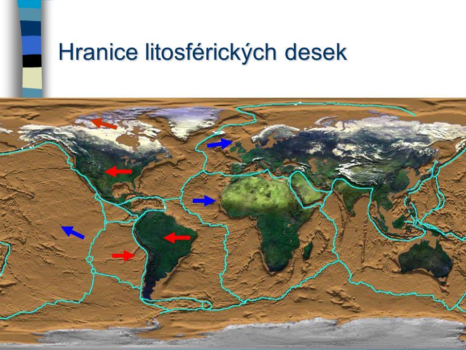 Geologický vývoj Laurasie … od ní se oddělila severoamerická litosférická deska (jádro: kanadský štít) Gondwana … od ní se oddělila jihoamerická litos