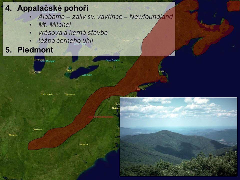 3.Centrální roviny pánev Velkých kanadských jezer – Niagarské vodopádypánev Velkých kanadských jezer – Niagarské vodopády