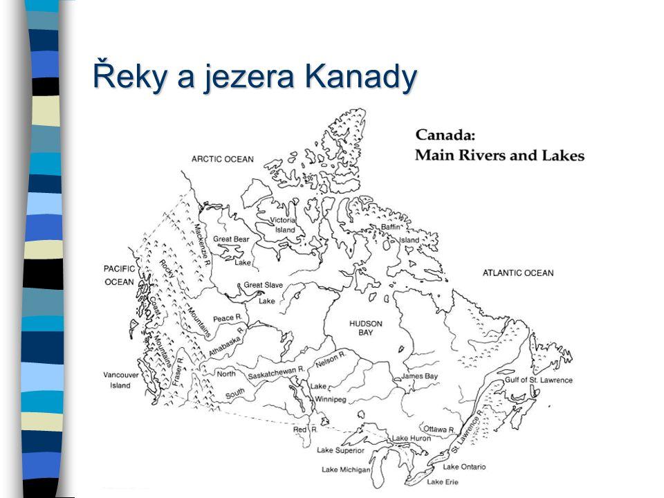 Hydrologie – vodní toky Yukon Mackenzie Columbia –Snake Mississippi –Missouri –Ohio –Arkansas sv. Vavřinece Rio Grande