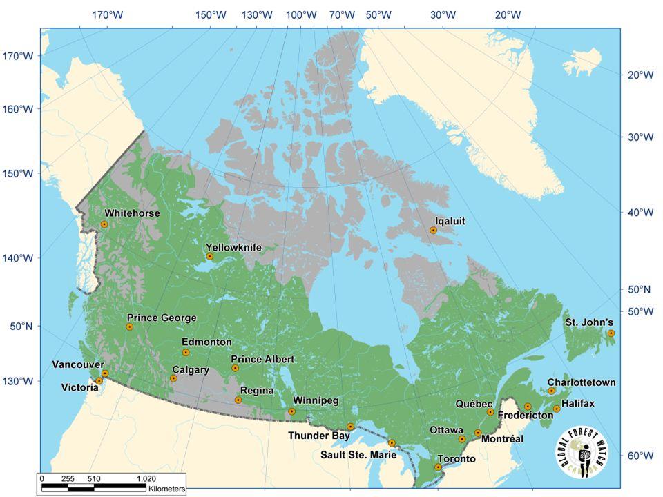 Řeky a jezera Kanady