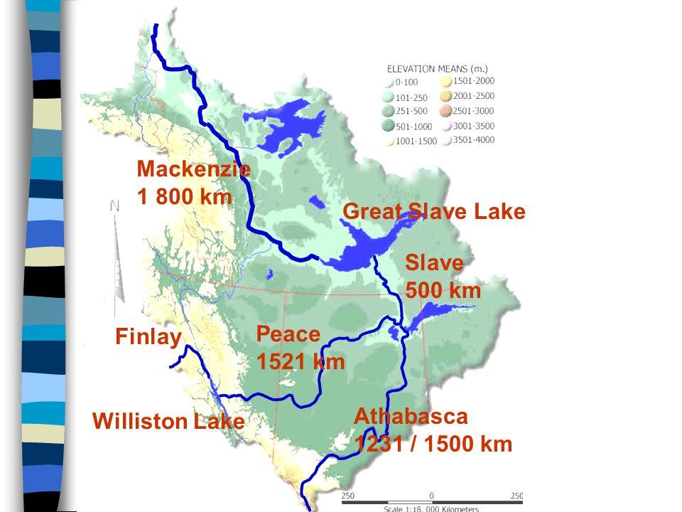 Mississippi 3 780 km (Mississippi-Missouri 6 020 km - 3. na světě) Povodí 3,2 mil. km 2 pramení Z od Velkých jezer v nevelké nadmořské výšce asi 500 m