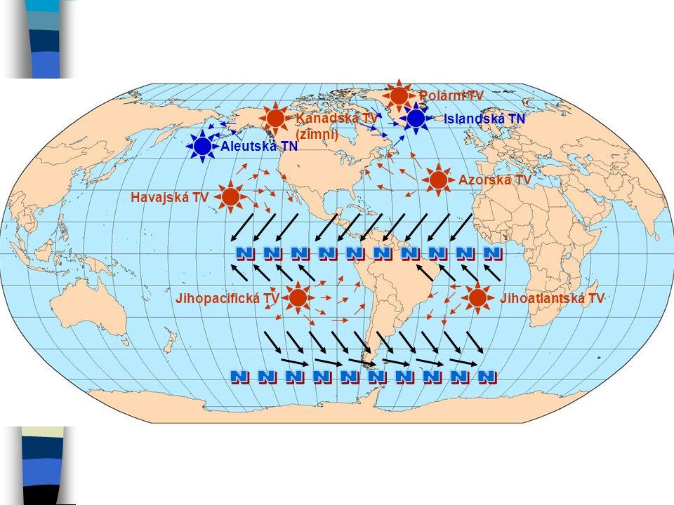 Faktory ovlivňující klima 1. poledníkový tvar horských celků - izolace 2. pronikání vzduchu ze S na J i z J na S 3. přesun vzdušných hmot z Pacifiku v