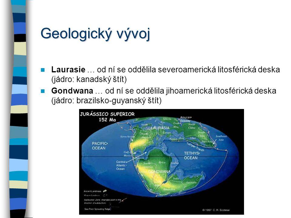 REGIONÁLNÍ GEOGRAFIE ANGLOAMERIKY Geologické a geomorfologické poměry