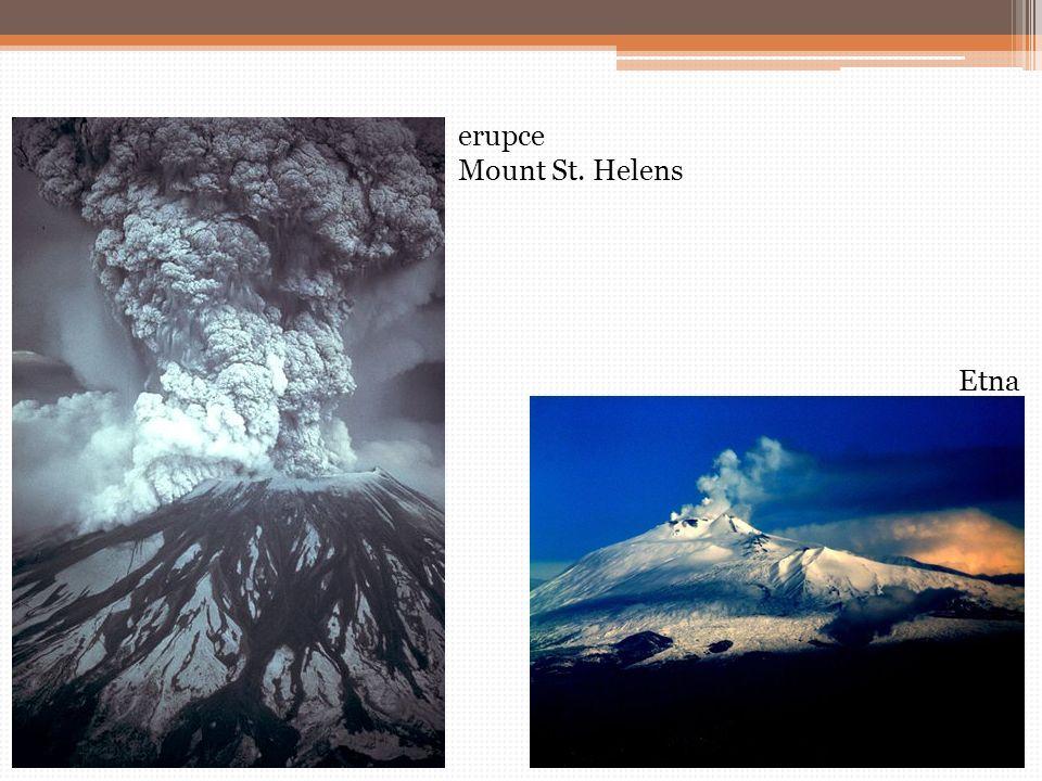 erupce Mount St. Helens Etna
