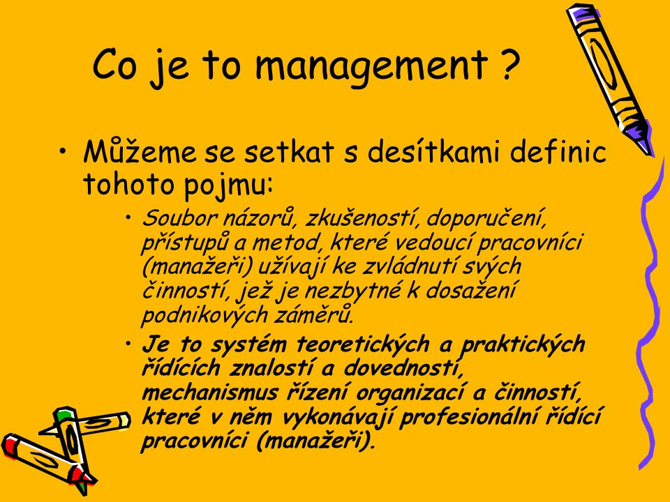 Co je to management .