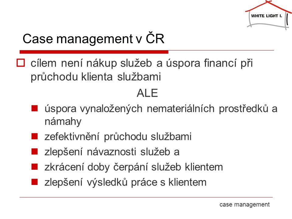 23 September 2016strana 8case management Case management v ČR  cílem není nákup služeb a úspora financí při průchodu klienta službami ALE úspora vynaložených prostředků a námahy zefektivnění průchodu službami zlepšení návaznosti služeb a zkrácení doby čerpání služeb klientem nejde o paralelní ani postupné využívání služeb - spolupracující subjekty se podílejí na řešení případu zároveň