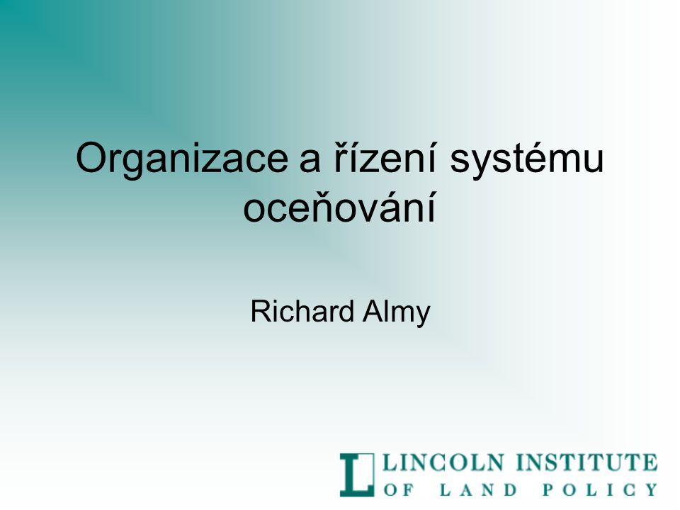 Organizace a řízení systému oceňování Richard Almy