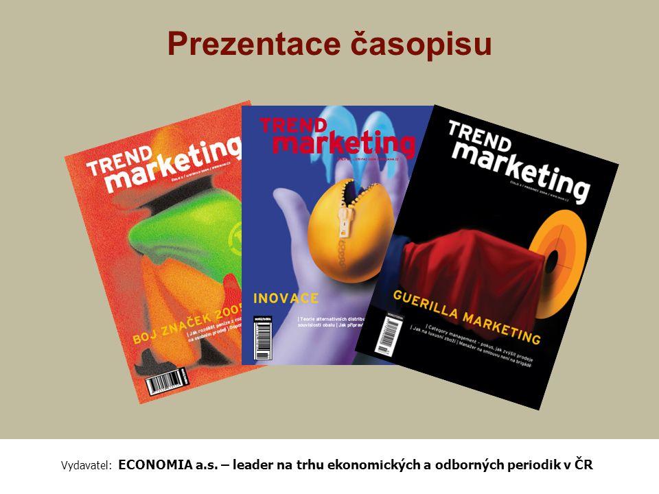 Časopis TREND Marketing TREND Marketing je nový odborný měsíčník primárně určený pro vrcholový management a specialisty odpovědné za marketingové řízení ve středních a velkých firmách.