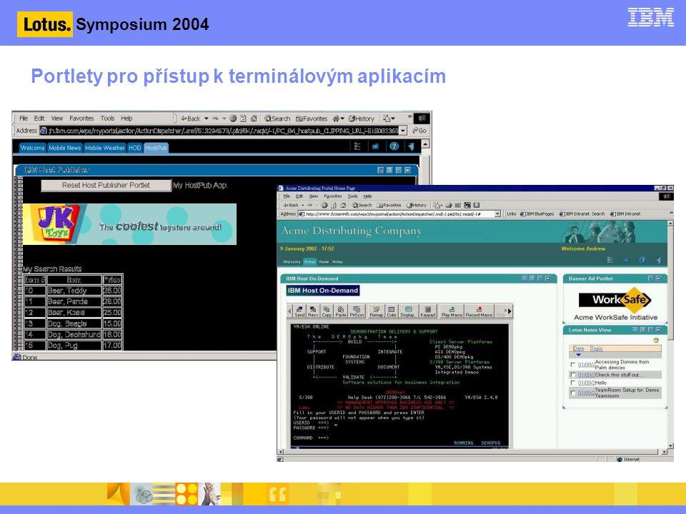 Symposium 2004 Portlety pro přístup k terminálovým aplikacím