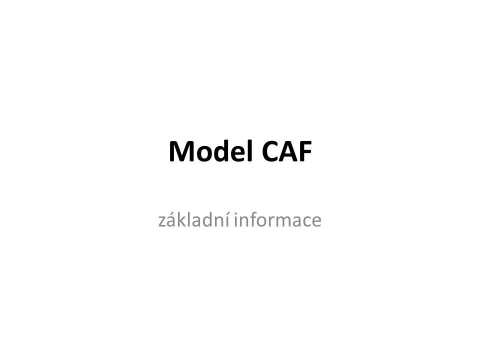 Model CAF základní informace 3