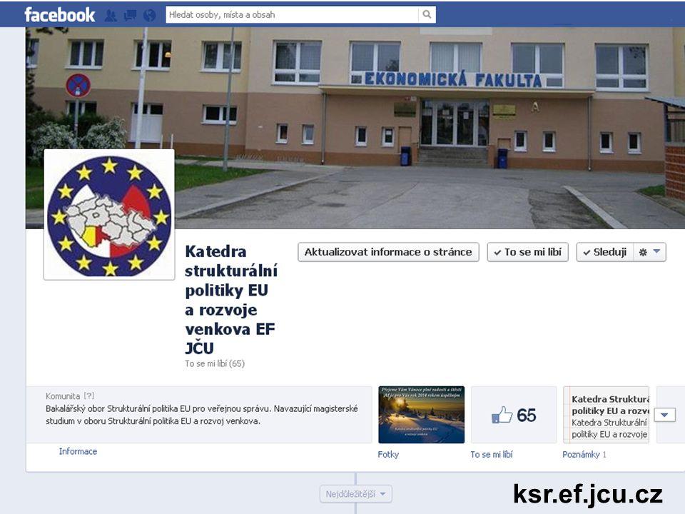 http://ksr.ef.jcu.cz/ facebook www.ef.jcu.cz ksr.ef.jcu.cz