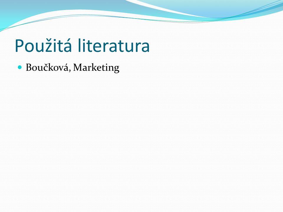 Použitá literatura Boučková, Marketing