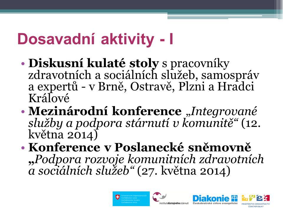 Dosavadní aktivity - I Diskusní kulaté stoly s pracovníky zdravotních a sociálních služeb, samospráv a expertů - v Brně, Ostravě, Plzni a Hradci Králo