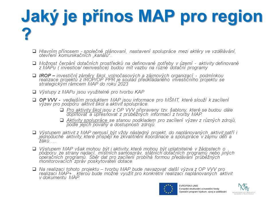 Jaký je přínos MAP pro region .
