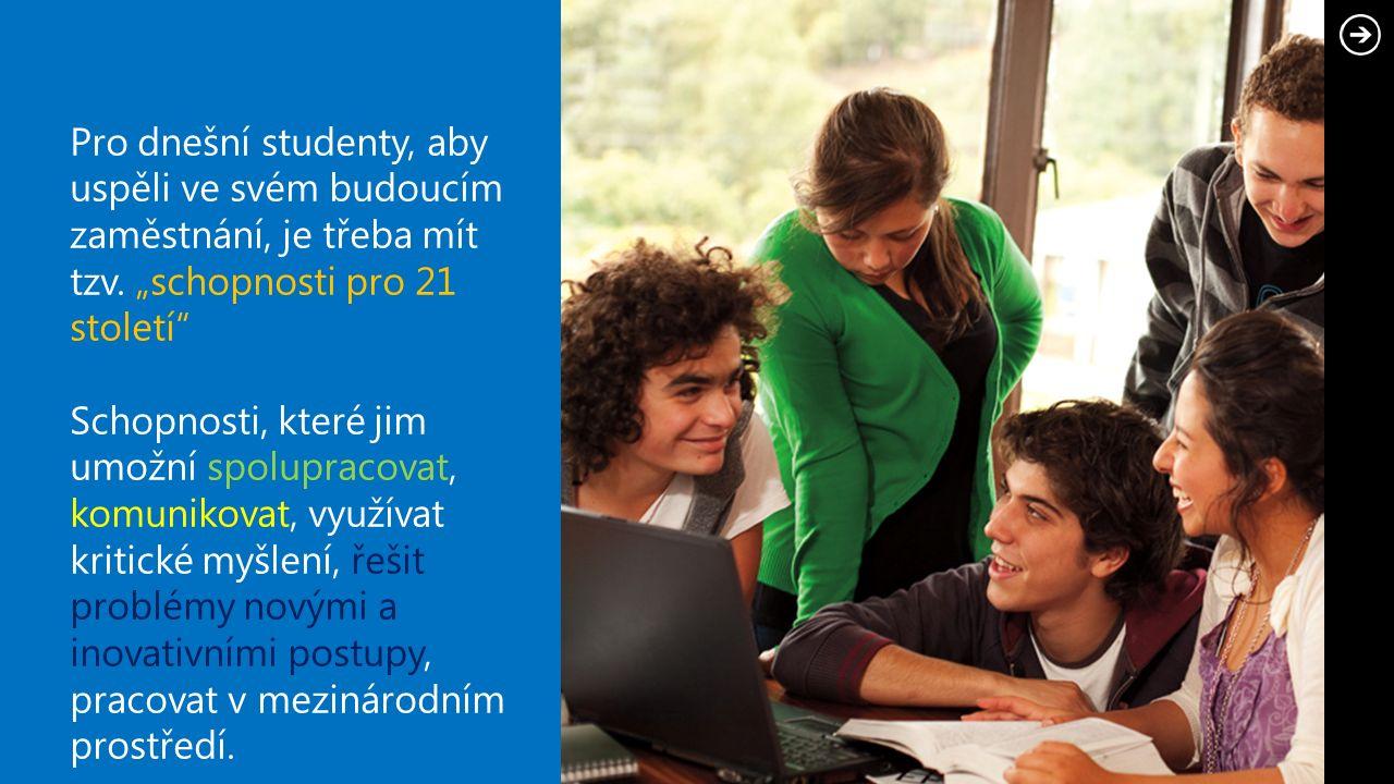 Pro dnešní studenty, aby uspěli ve svém budoucím zaměstnání, je třeba mít tzv.