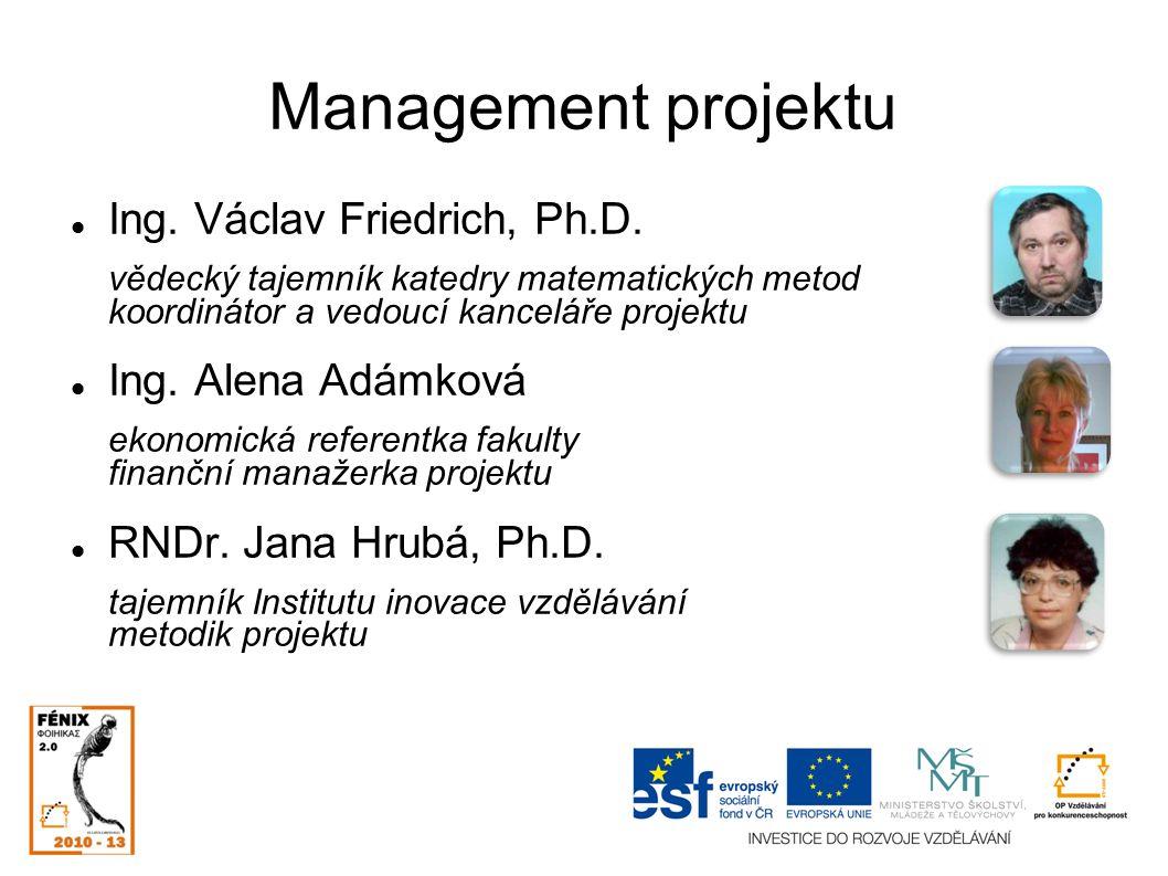 Management projektu doc.RNDr. Dana Šalounová, Ph.D.