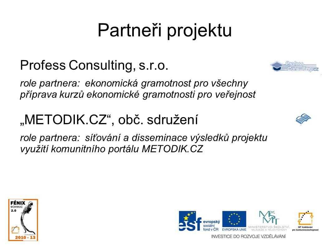 Partneři projektu Profess Consulting, s.r.o.