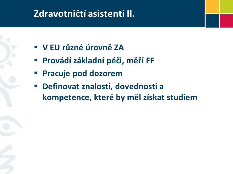 Zdravotničtí asistenti II.