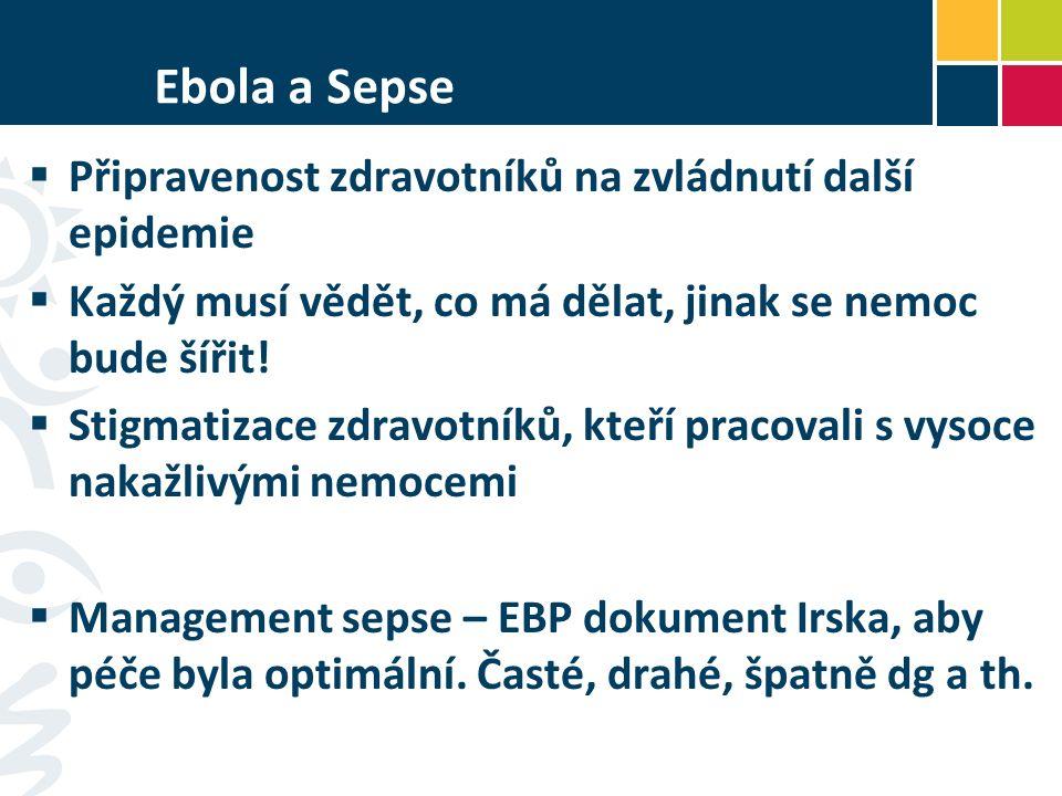 Ebola a Sepse  Připravenost zdravotníků na zvládnutí další epidemie  Každý musí vědět, co má dělat, jinak se nemoc bude šířit.