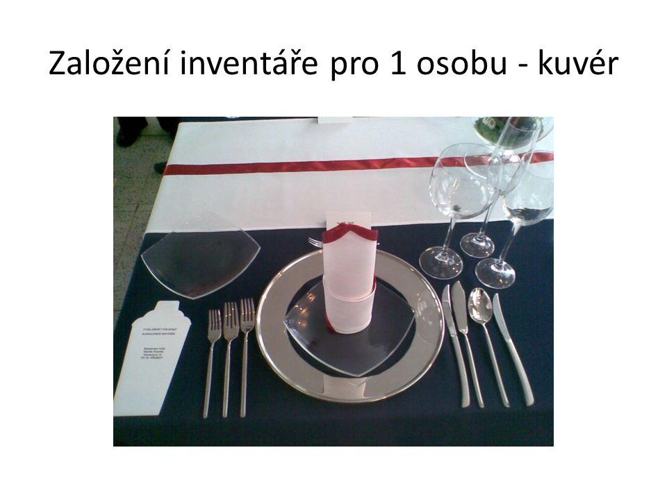 Založení inventáře pro 1 osobu - kuvér