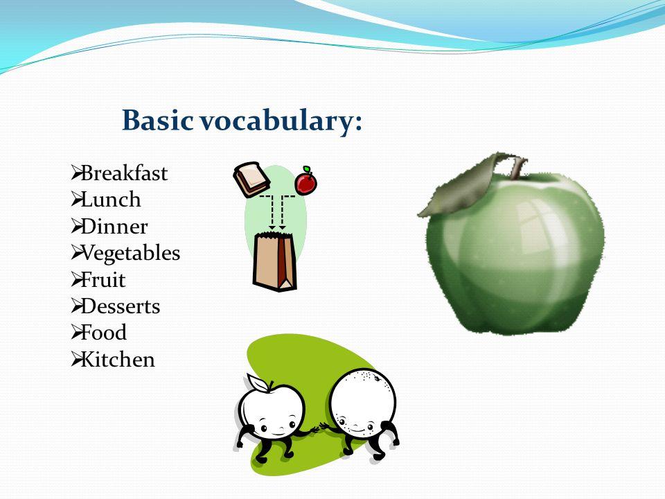 Vegetables  potatoes = brambory  carrots = mrkve  onions = cibule  mushrooms = hřiby  beans= fazole  garlic = česnek  pepper = paprika  peas = hrášek Fruit  bananas = banány  apples = jablka  oranges = pomeranče  lemons = citrony  peaches = broskve  strawberries = jahody  pears = hrušky  plums = švestky