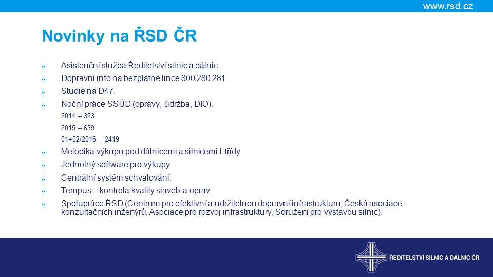 www.rsd.cz Novinky na ŘSD ČR ╬ Asistenční služba Ředitelství silnic a dálnic.