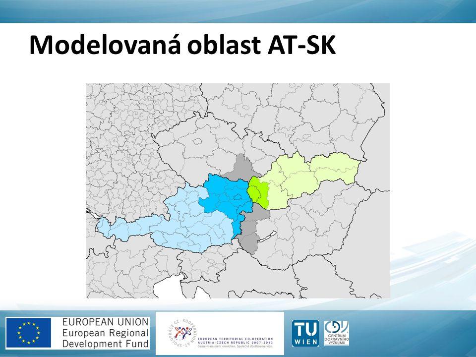 Modelovaná oblast AT-SK