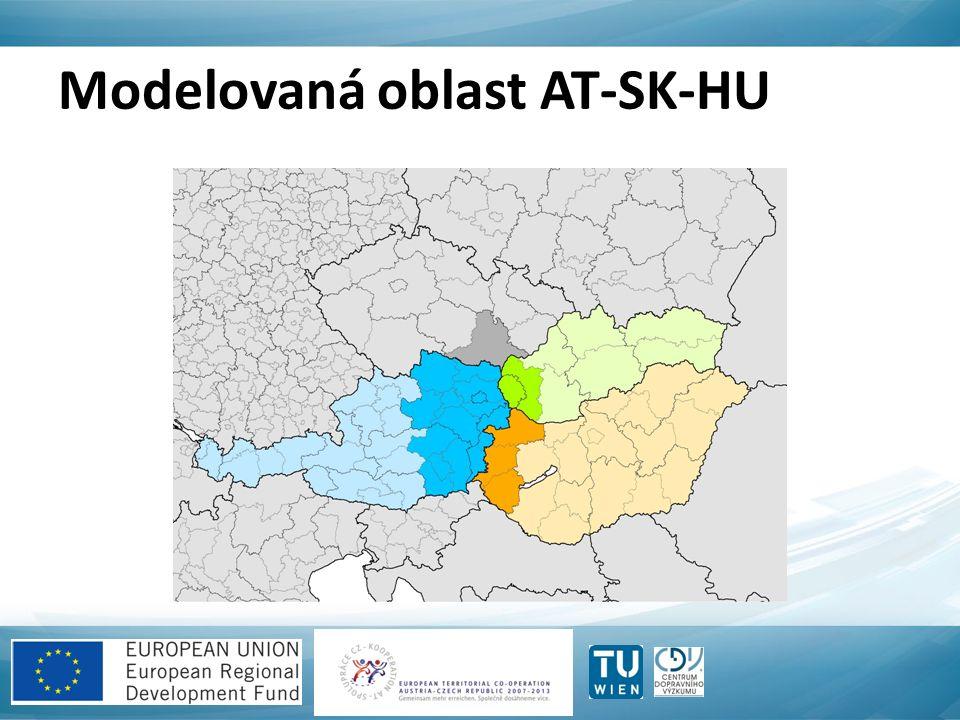 Modelovaná oblast AT-SK-HU
