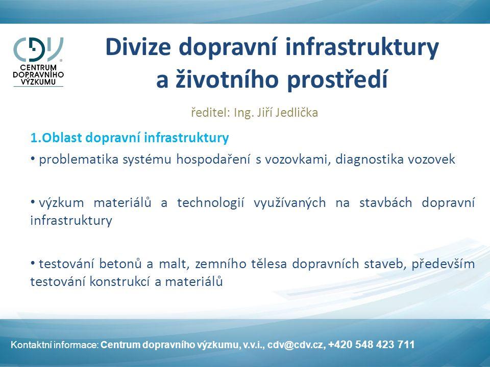 Divize dopravní infrastruktury a životního prostředí ředitel: Ing.