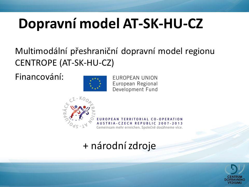 Dopravní model AT-SK-HU-CZ Multimodální přeshraniční dopravní model regionu CENTROPE (AT-SK-HU-CZ) Financování: + národní zdroje