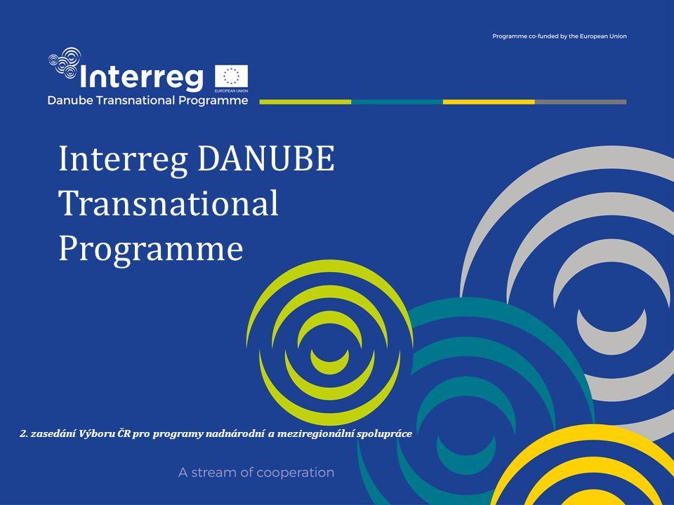 Interreg DANUBE Transnational Programme 2. zasedání Výboru ČR pro programy nadnárodní a meziregionální spolupráce