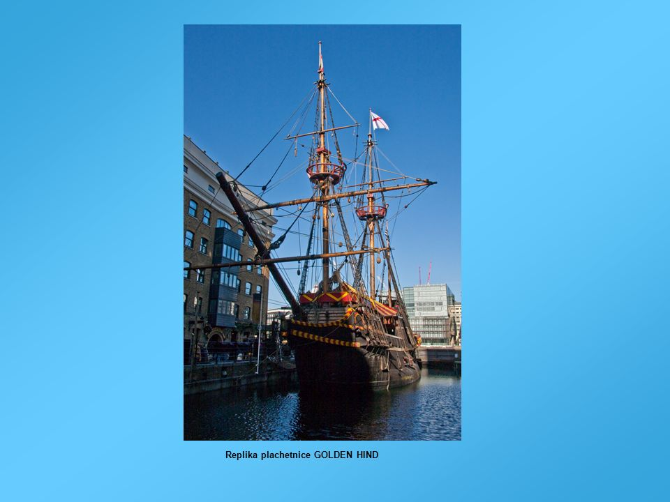 Replika plachetnice GOLDEN HIND