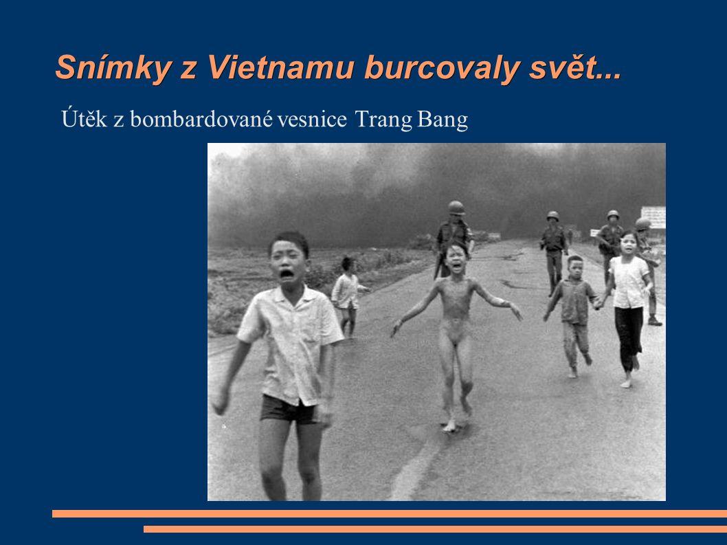 Snímky z Vietnamu burcovaly svět... Útěk z bombardované vesnice Trang Bang